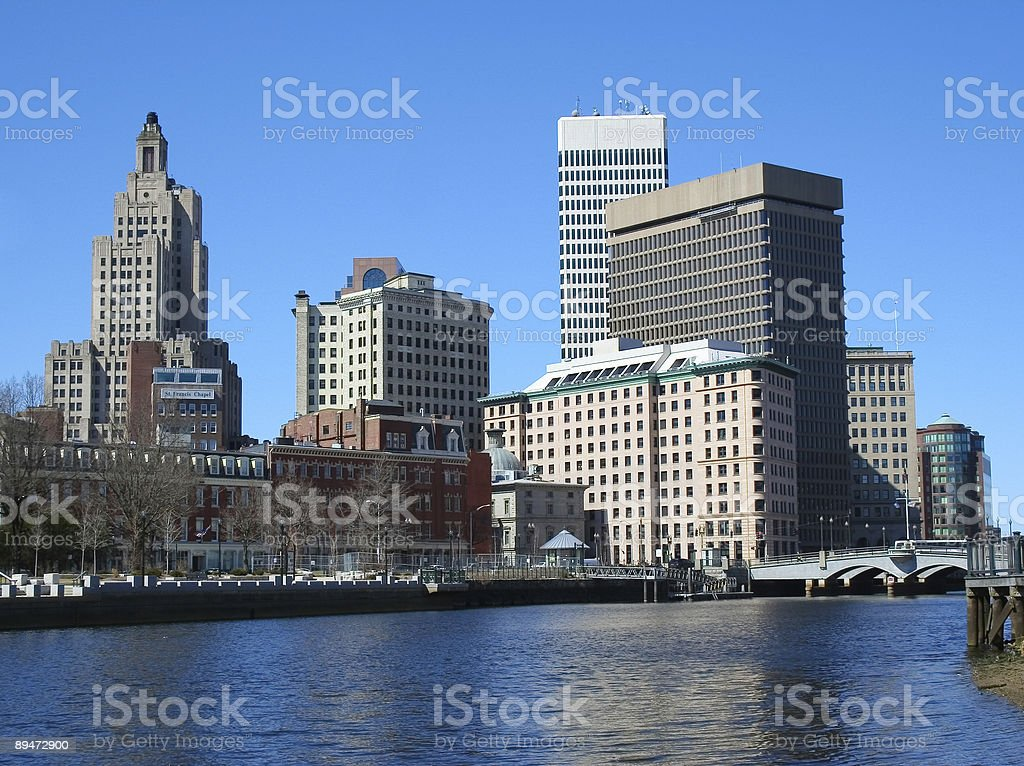 Downtown Providence Rhode Island Skyline royalty-free stock photo