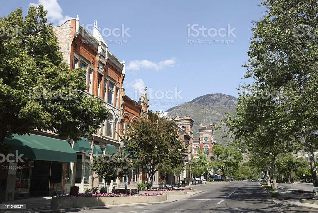 Downtown Provo stock photo