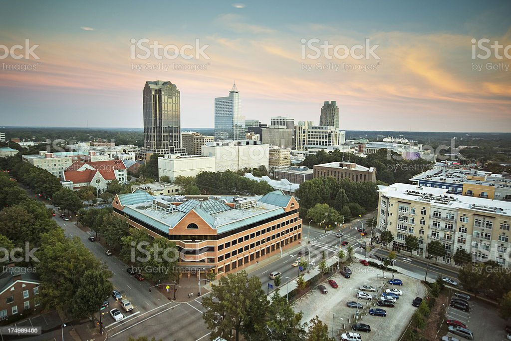 Downtown Raleigh stock photo