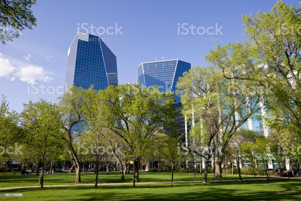 Downtown Regina stock photo
