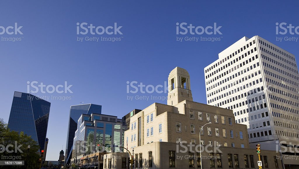 Downtown Regina, Saskatchewan royalty-free stock photo