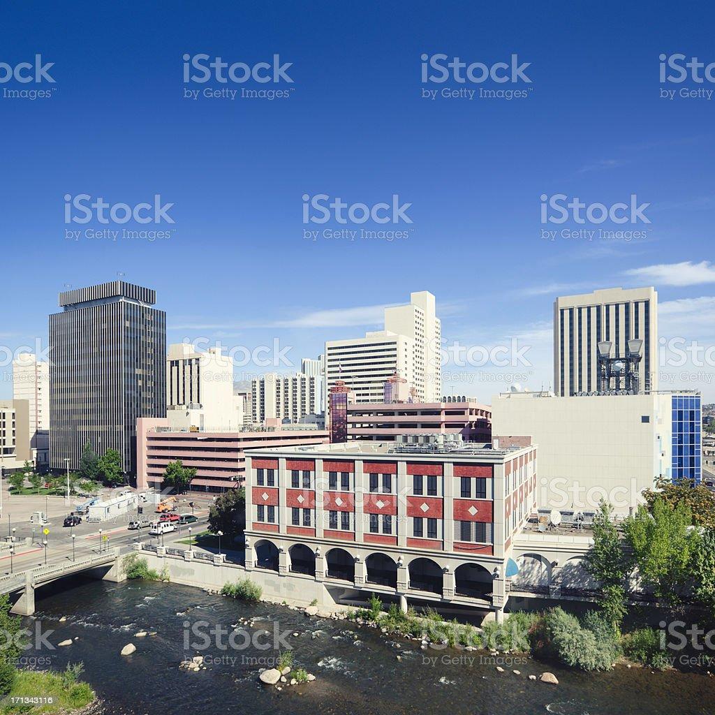 Downtown Reno stock photo