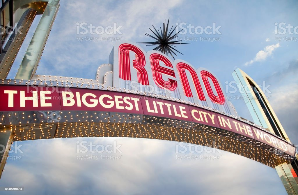 Downtown Reno Sign stock photo