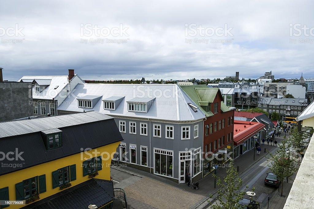 Downtown Reykjavik, Iceland royalty-free stock photo
