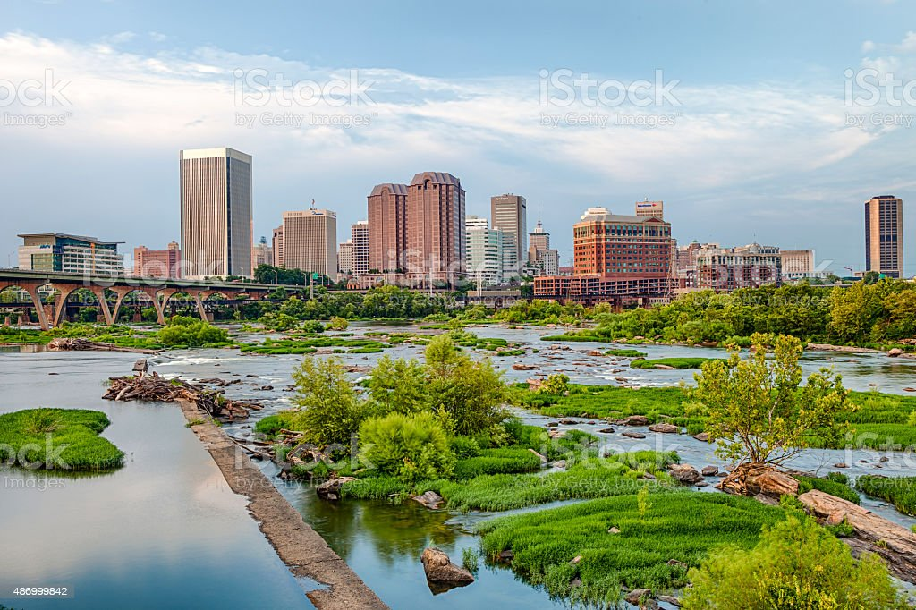 Downtown Richmond, Virginia stock photo