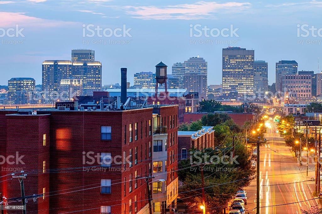 Downtown Richmond, Virginia stock photo