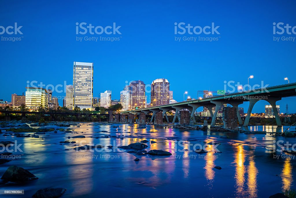 Downtown Richmond, Virginia skyline stock photo