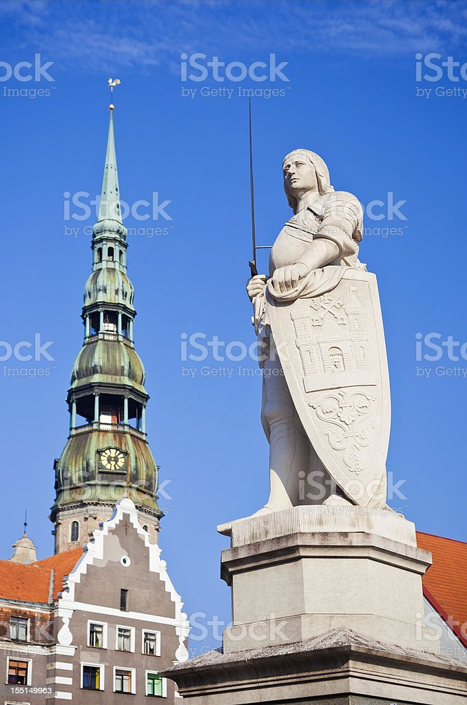 Downtown Riga, Latvia stock photo
