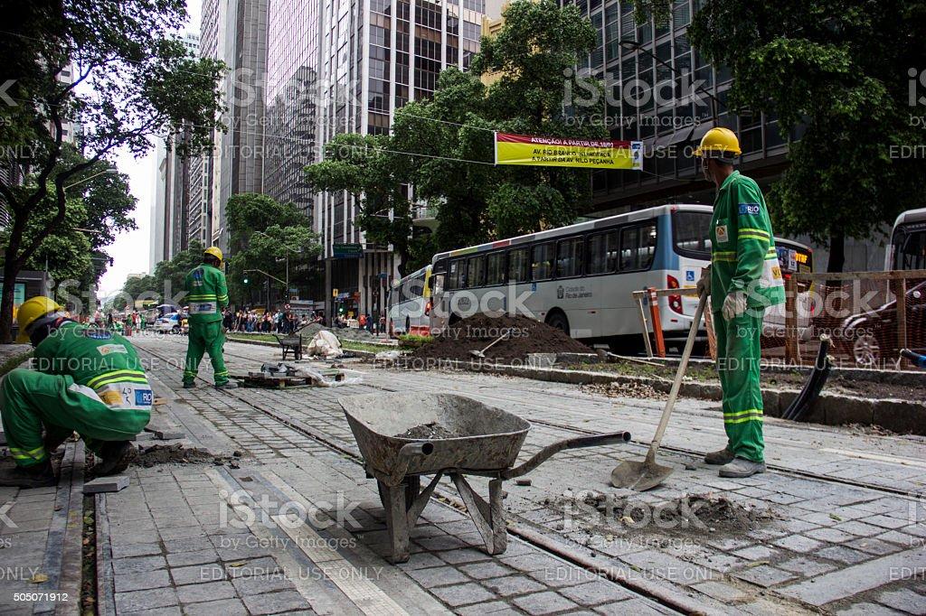 Downtown Rio has important avenue bans to implement VLT stock photo