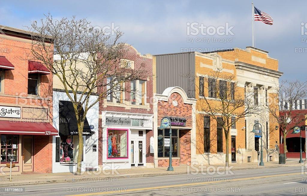 Downtown Rochester, Michigan stock photo