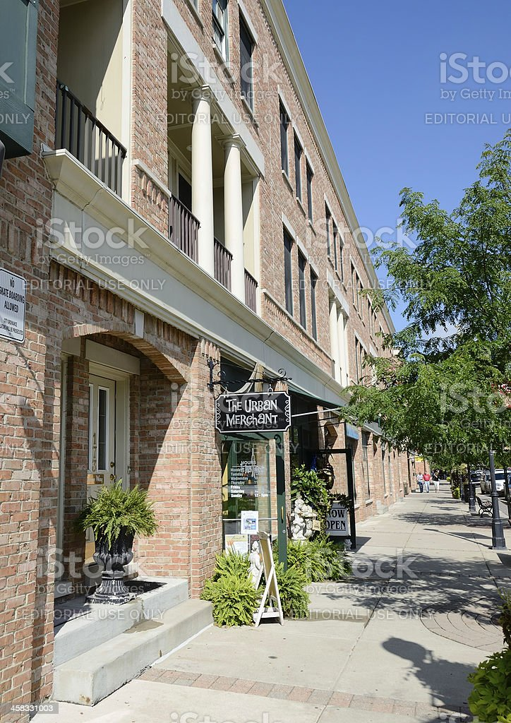 Downtown Romeo, Michigan royalty-free stock photo