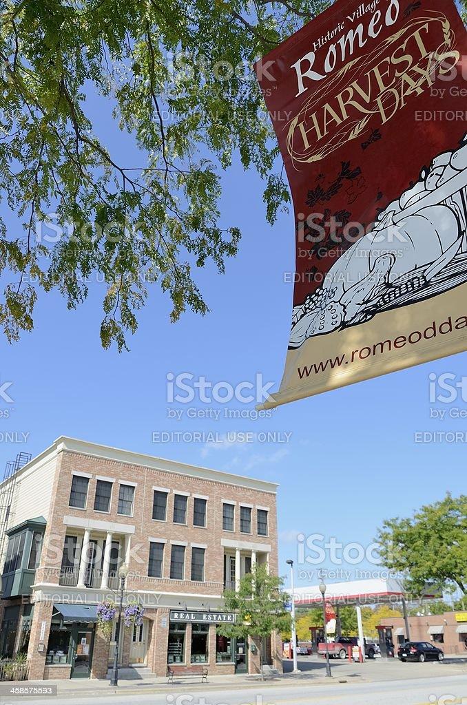 Downtown Romeo, Michigan stock photo