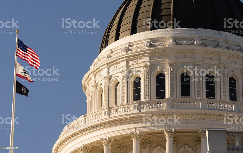 Downtown Sacramento California Capital Dome Building City Skyline stock photo