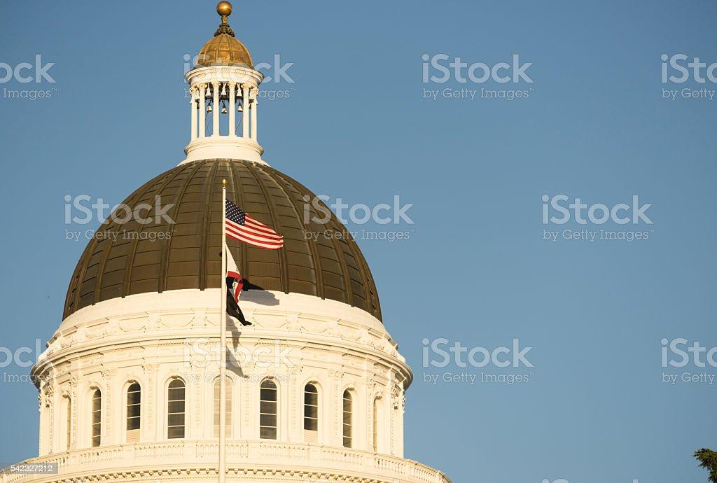 Downtown Sacramento California Capital Dome Building stock photo