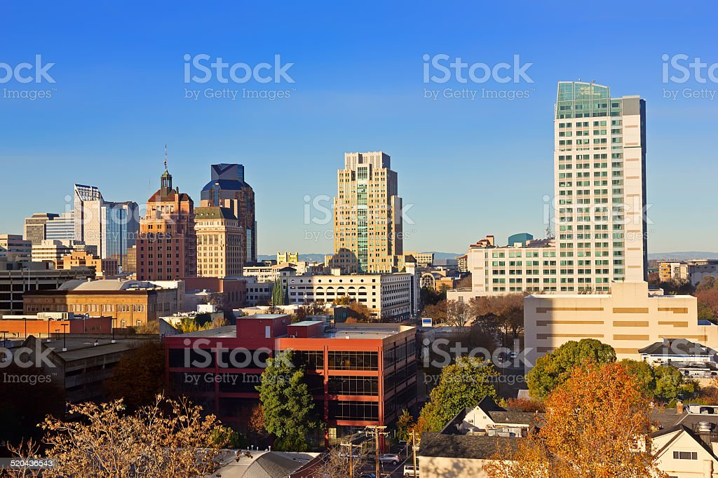 Downtown Sacramento stock photo
