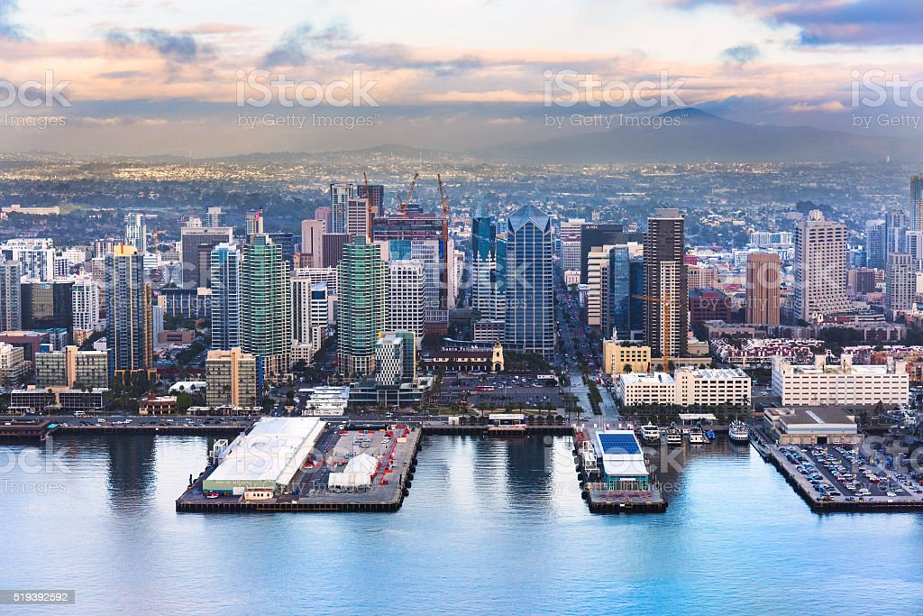 Downtown San Diego California from Above stock photo
