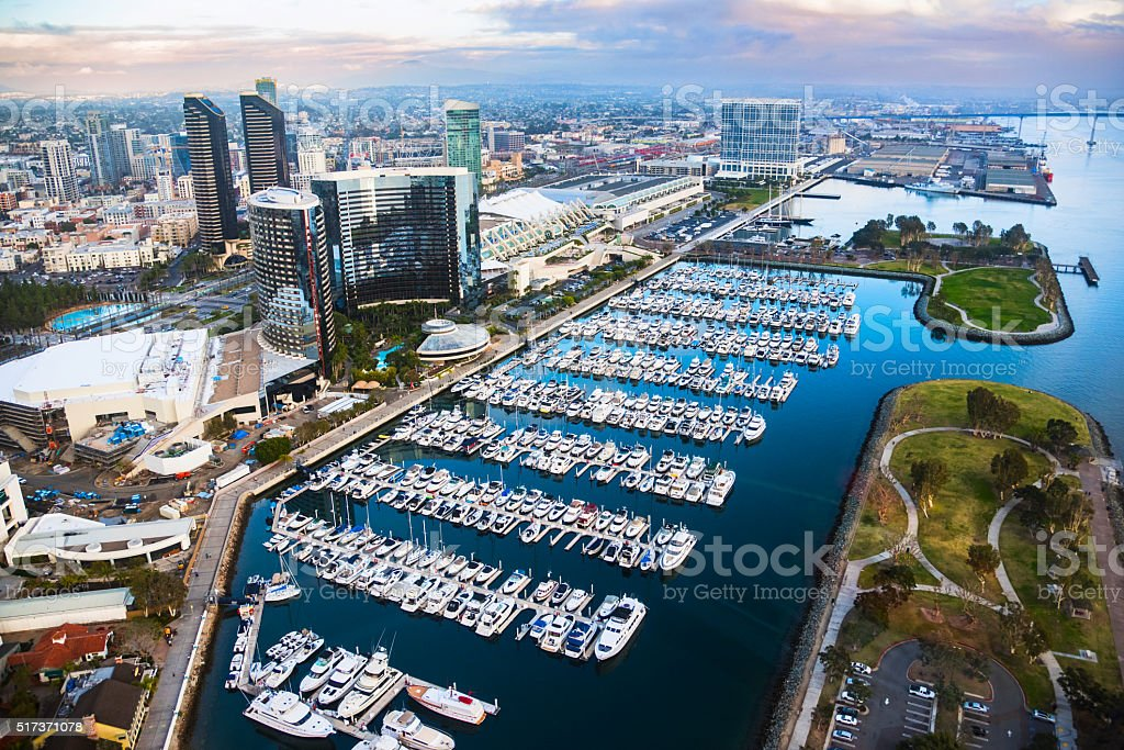 Downtown San Diego Marina and Waterfront stock photo
