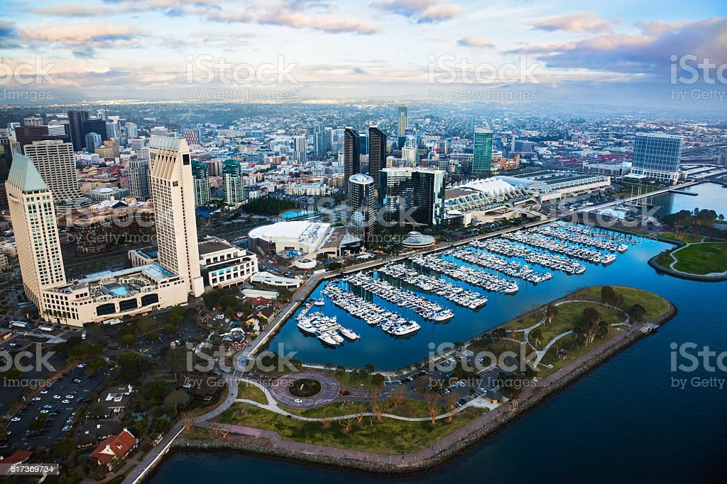 Downtown San Diego Waterfront From Above stock photo