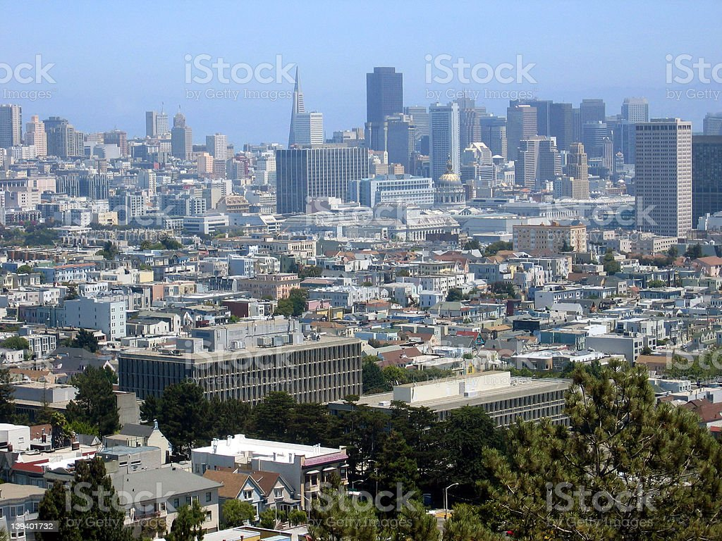 Downtown San Francisco royalty-free stock photo