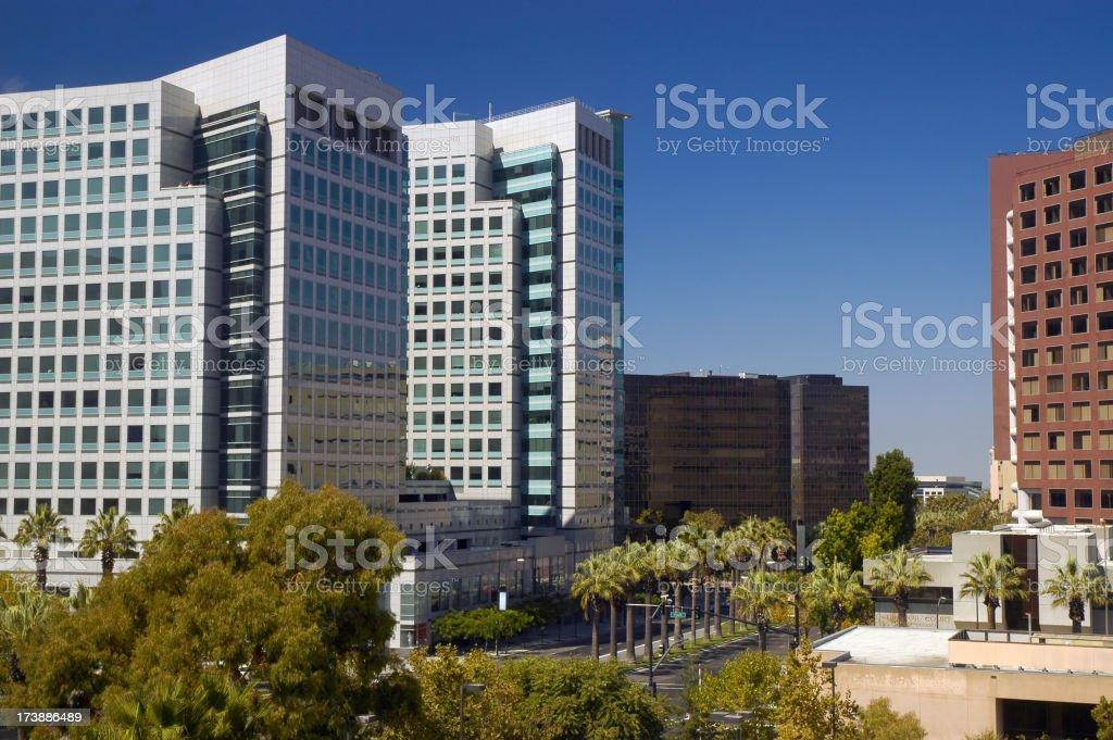 Downtown San Jose buildings royalty-free stock photo