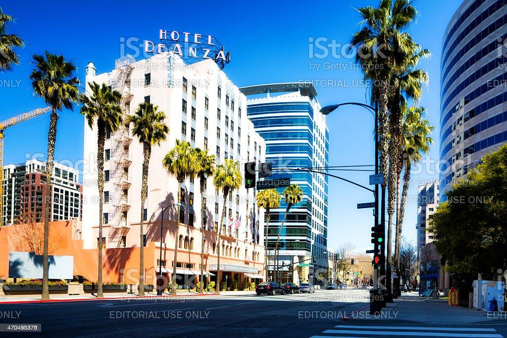 Downtown San Jose California stock photo