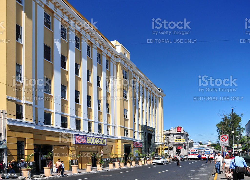 Downtown San Salvador, El-Salvador stock photo