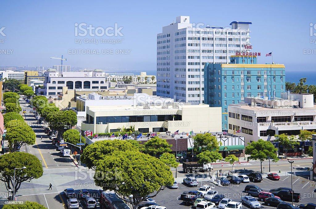 Downtown Santa Monica, CA royalty-free stock photo