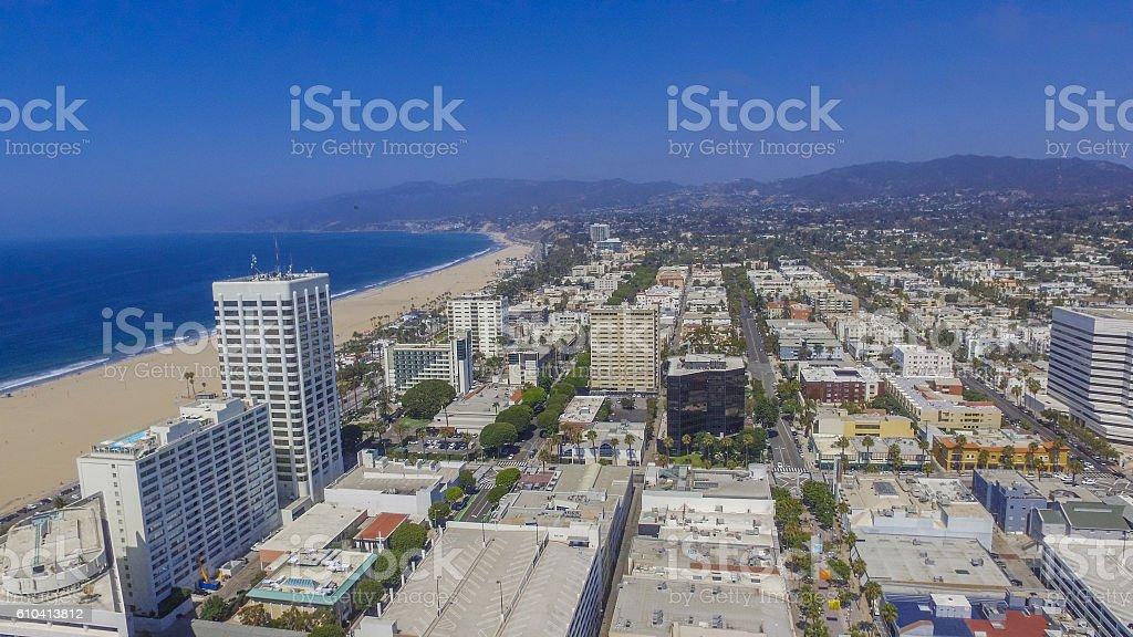 Downtown Santa Monica stock photo