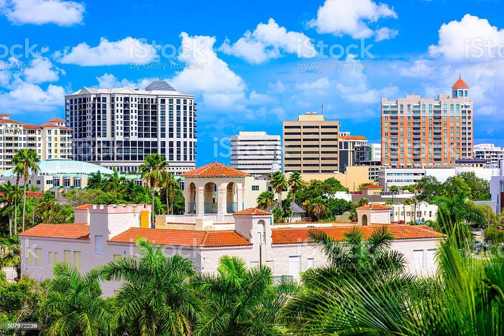 Downtown Sarasota, Florida stock photo