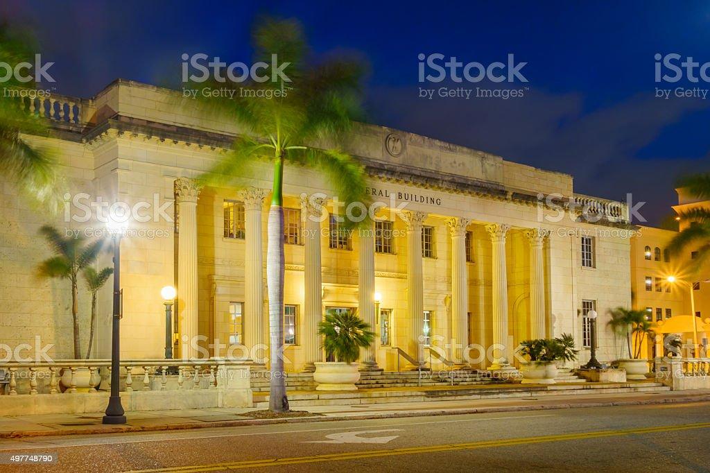 Downtown Sarasota Florida USA Federal Building stock photo