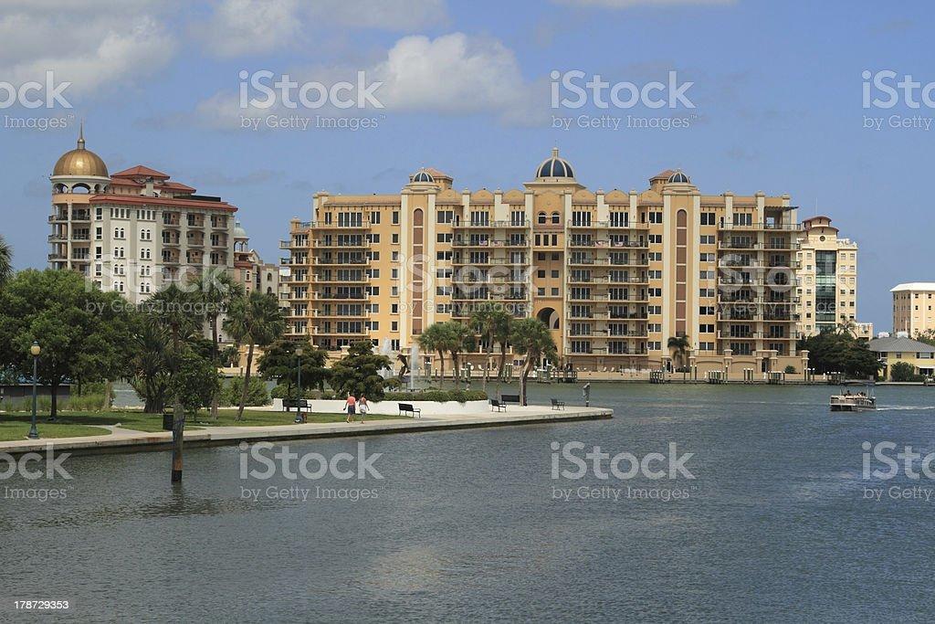 Downtown Sarasota in Florida royalty-free stock photo
