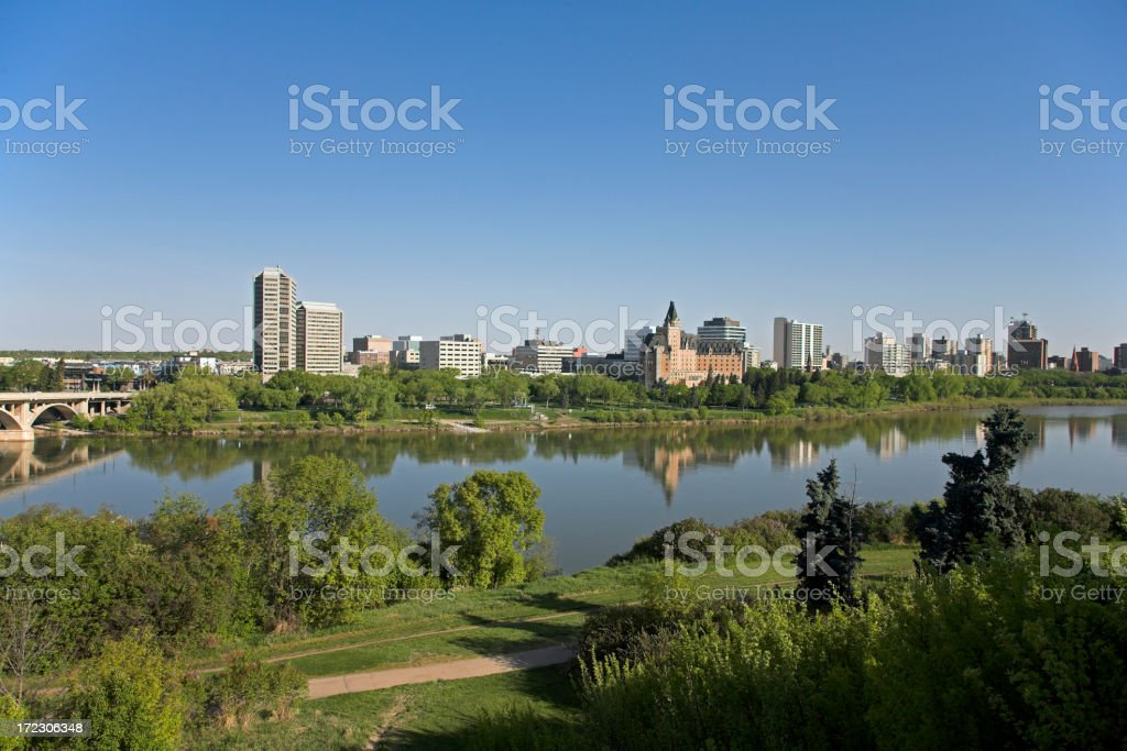 Downtown Saskatoon in Summer royalty-free stock photo