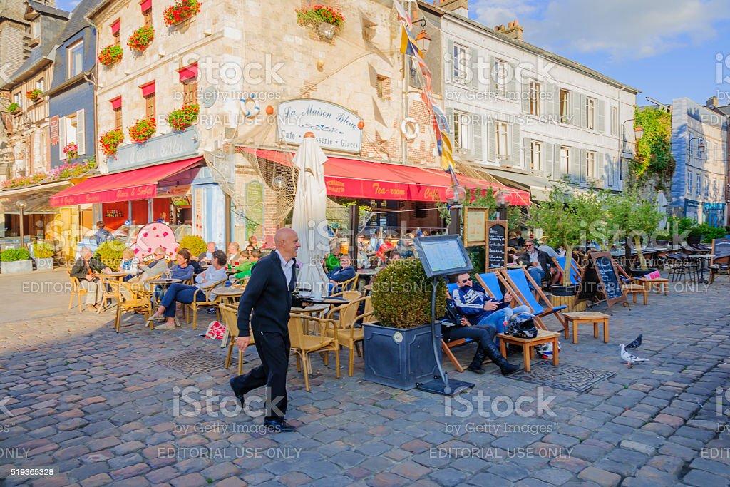 Downtown scene, Honfleur stock photo