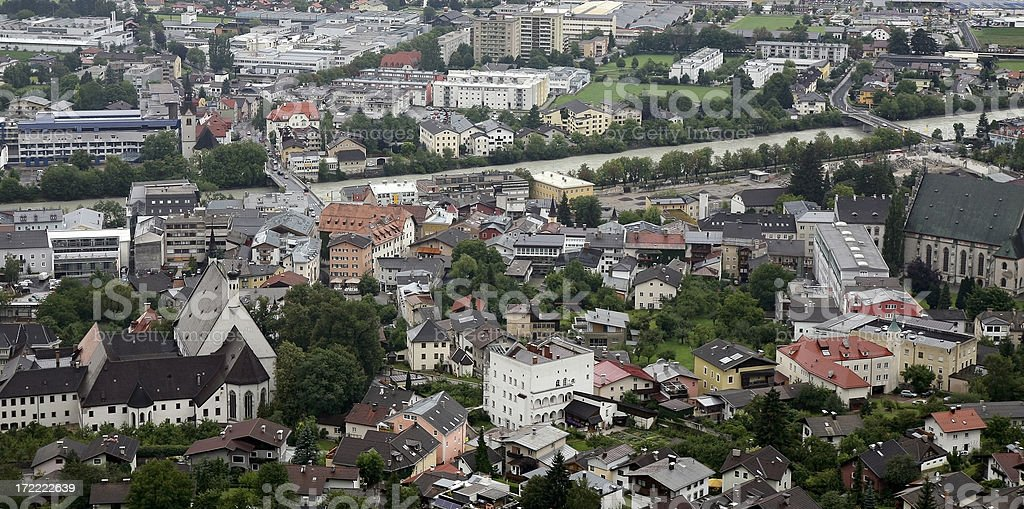 Downtown Schwaz, Austria royalty-free stock photo