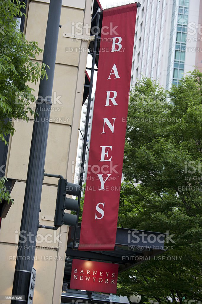 Downtown Seattle Barneys New York Upscale Department Store stock photo