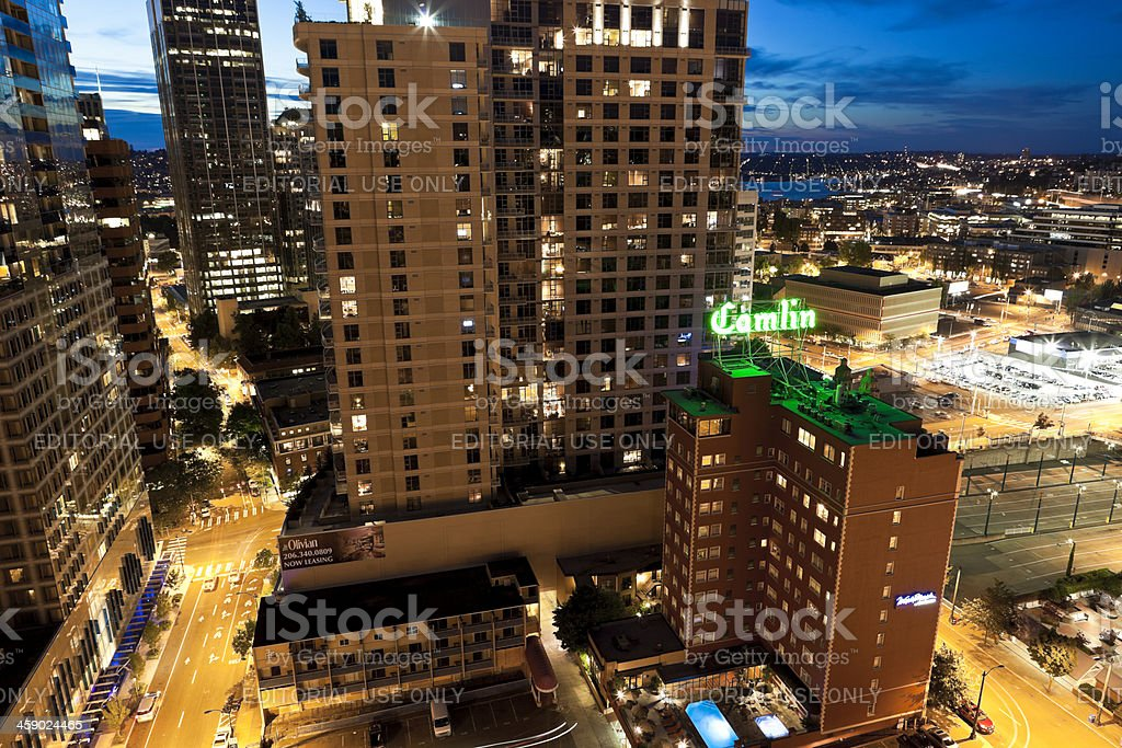 Downtown Seattle High-Rise View royalty-free stock photo