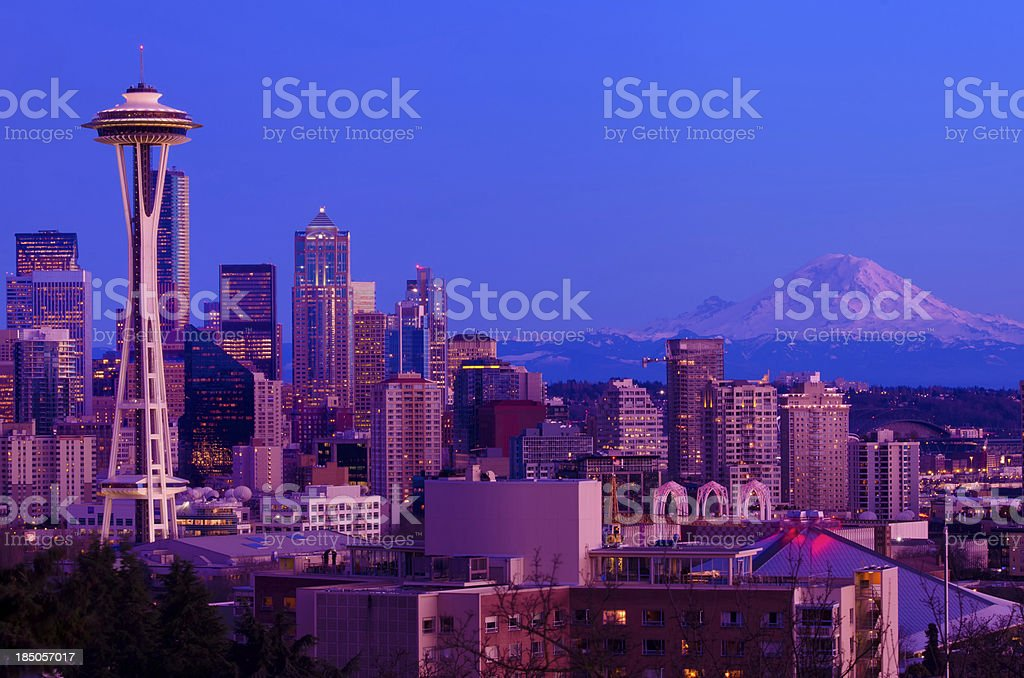 Downtown Seattle royalty-free stock photo