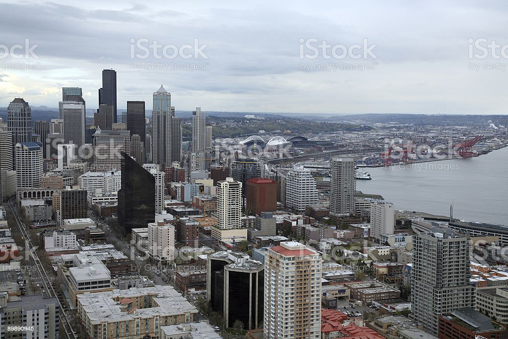 Downtown Seattle royalty-free stock photo
