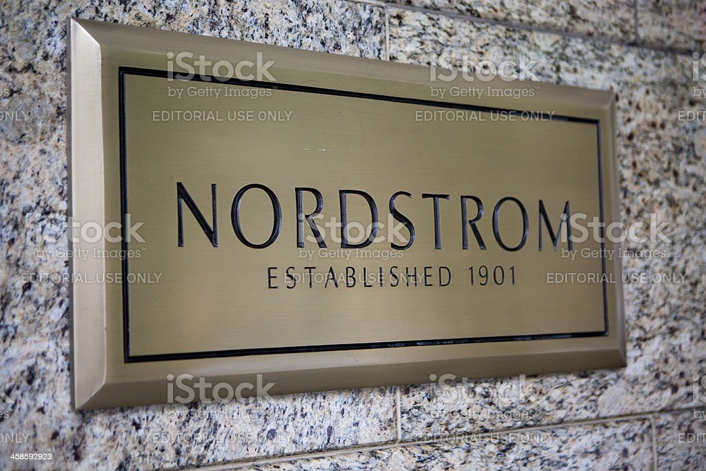 Downtown Seattle Retail Shopping District with Nordstom Department Store stock photo