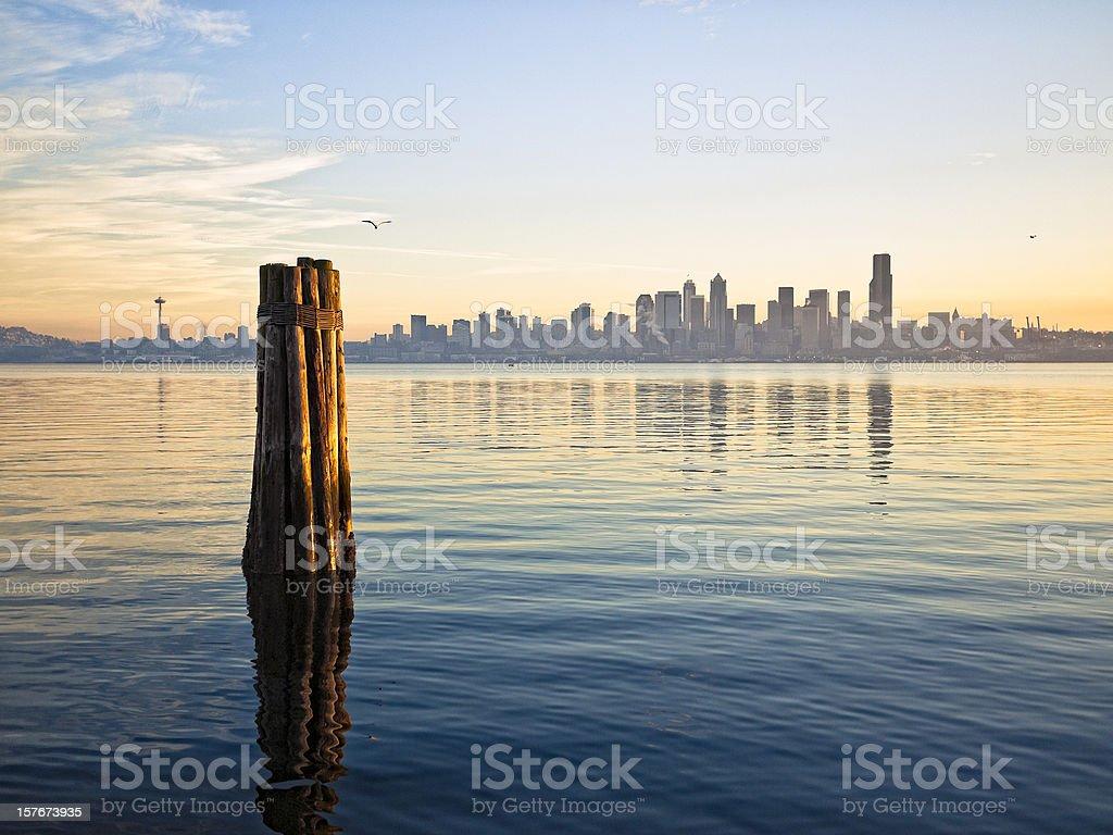 Downtown Seattle Skyline royalty-free stock photo