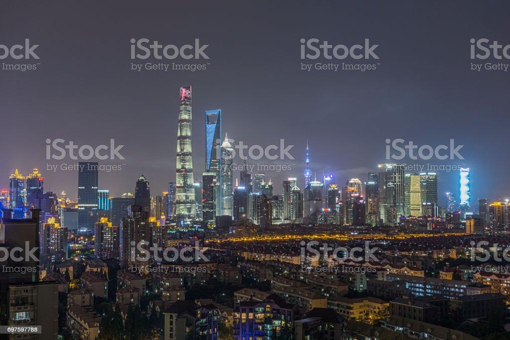 Downtown Shanghai stock photo