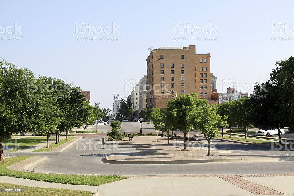 Downtown Shawnee, Oklahoma royalty-free stock photo