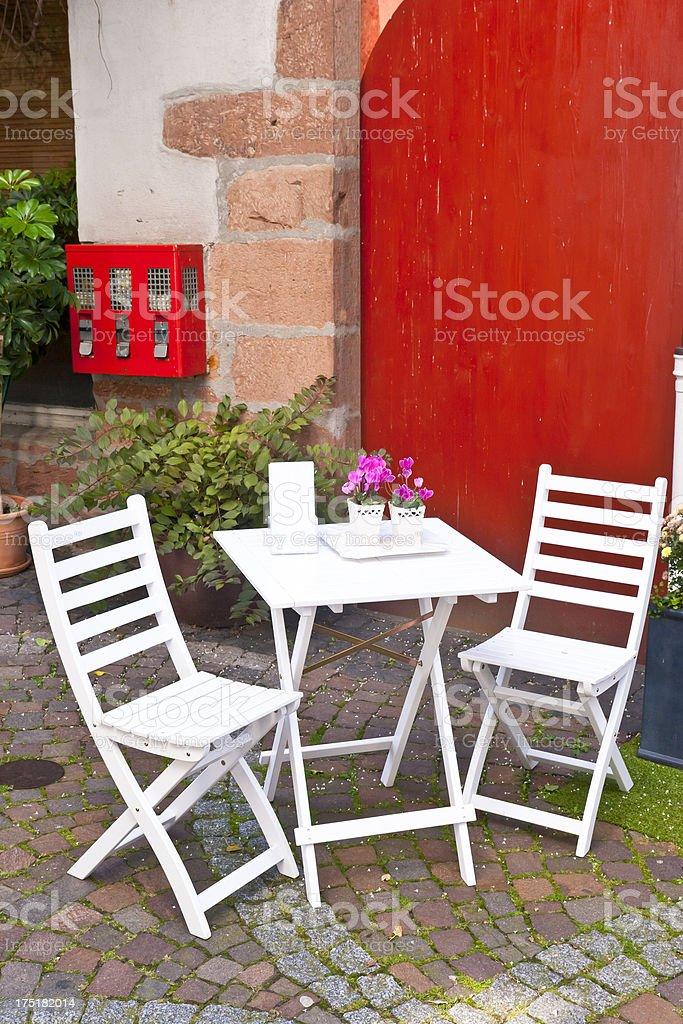 Downtown Sidewalk Cafe royalty-free stock photo