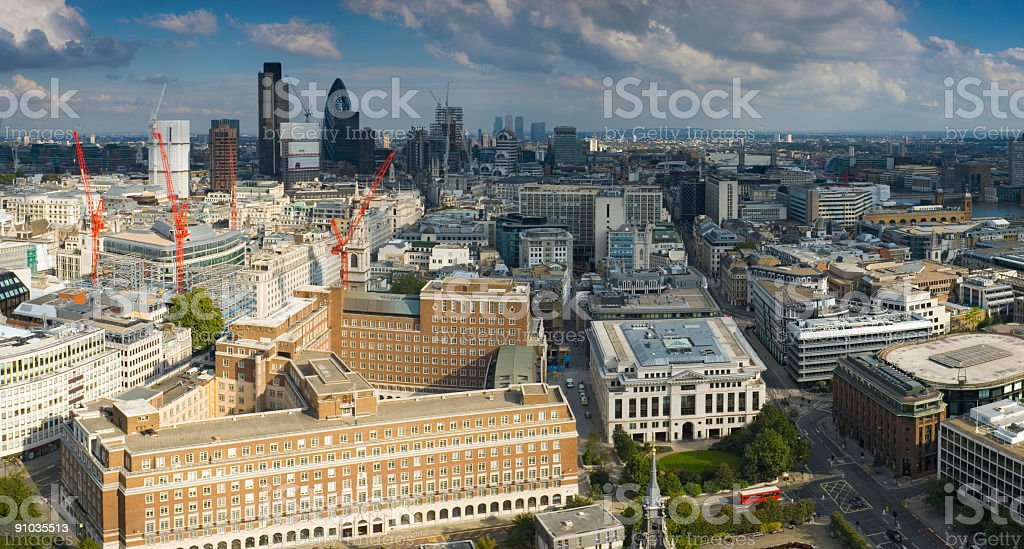 Downtown skyline, London royalty-free stock photo
