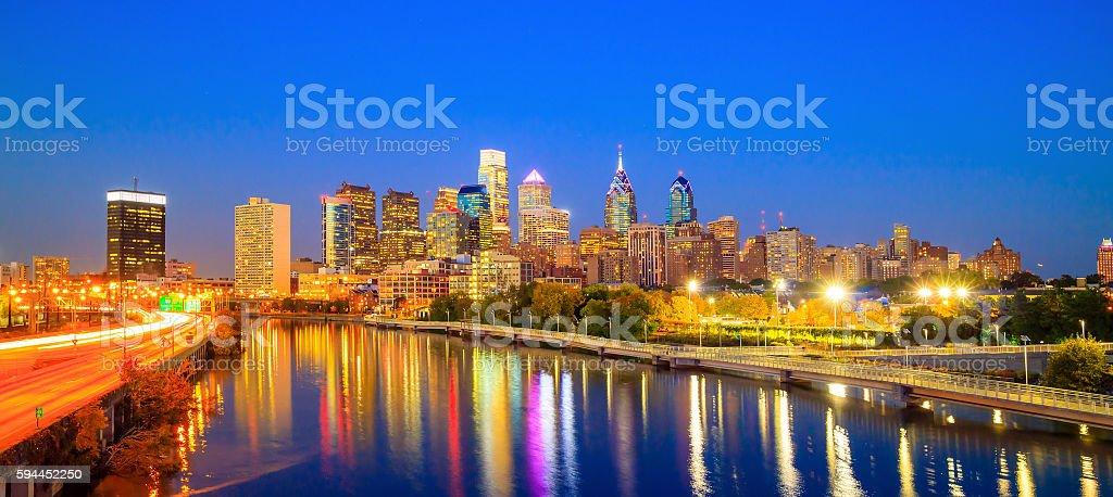 Downtown Skyline of Philadelphia stock photo