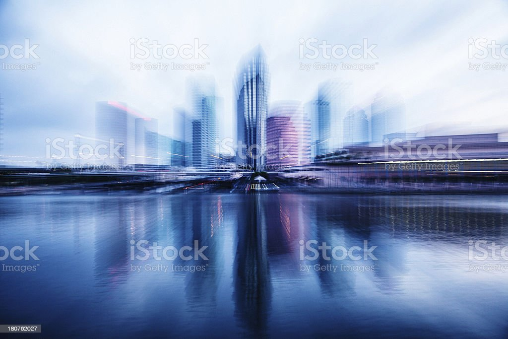 Downtown Skyline, Zooming stock photo