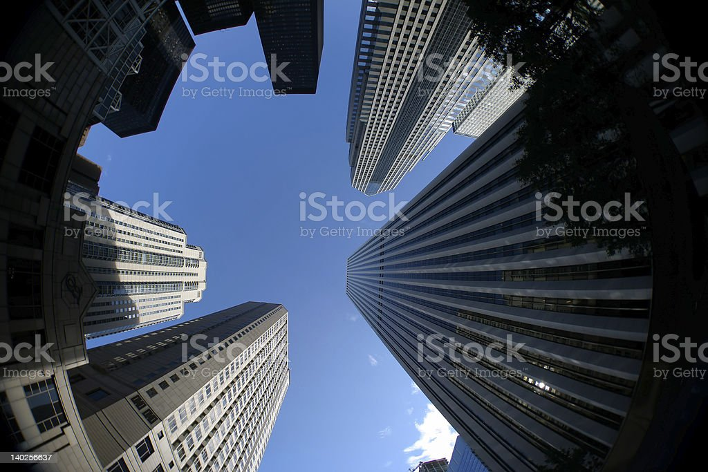 Downtown Skyscraper royalty-free stock photo