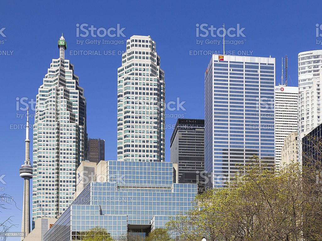 Downtown Skyscrapers stock photo