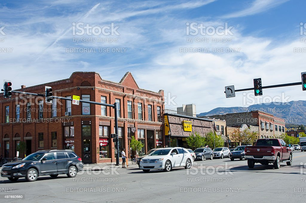 Downtown Steamboat Springs, Colorado stock photo
