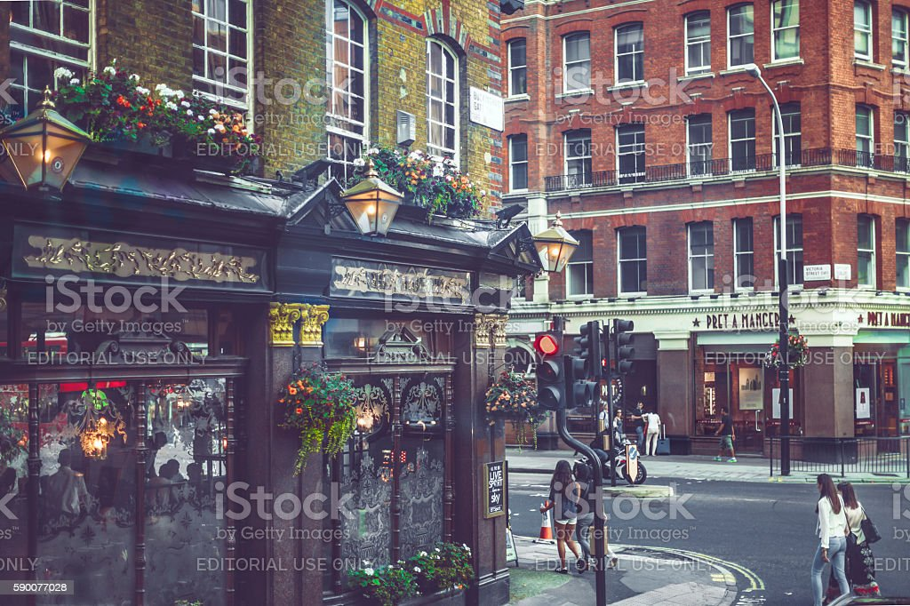 Downtown street in London stock photo